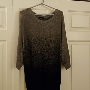 Black and silver ombre sweater